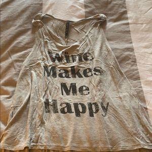 WINE MAKES ME HAPPY TANK